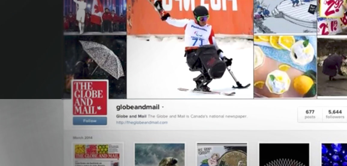 A screen shot showing an example of online journalism