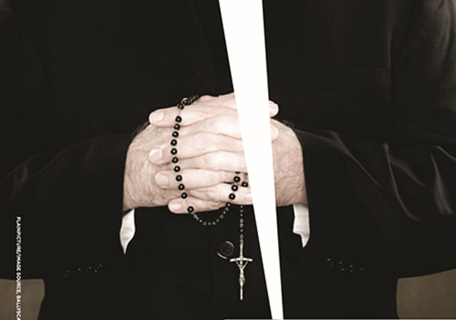 Man holding rosary beads