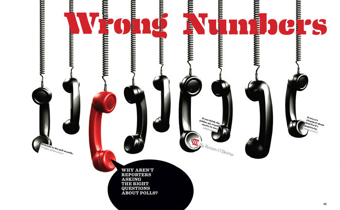"""Wrong Numbers"" graphic with hands on cords hanging"