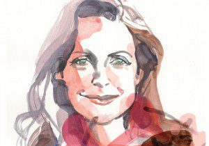 Watercolour painting of Michelle Shephard