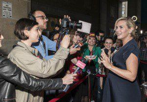 Kate Winslet being interviewed