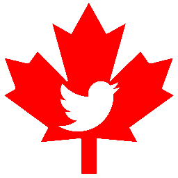 Twitter logo in maple leaf