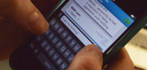 Photo of a BBM conversation on a Blackberry