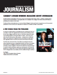 Ryerson Review of Journalism page