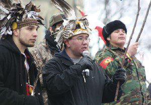 Speakers at Idle No More protest