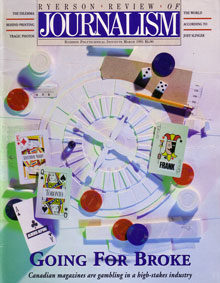 Cover of the Spring 1991 issue of the Ryerson Review of Journalism