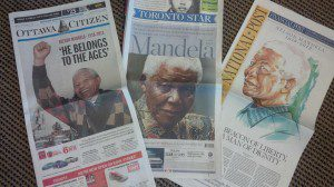 Nelson Mangels on newspaper fronts