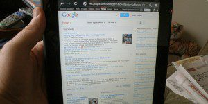 Google news page