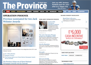 """The Province"" news website"