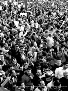 Large crowd of men