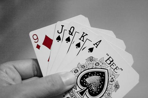 Cards in hand