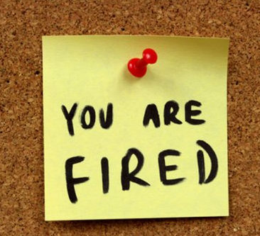 Post it note: you are fired