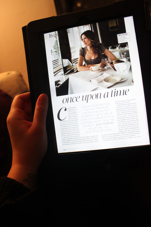 "Article on iPad ""Once upon a time"""