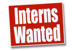 Interns wanted sign