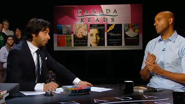 Jian Ghomeshi interviewing man