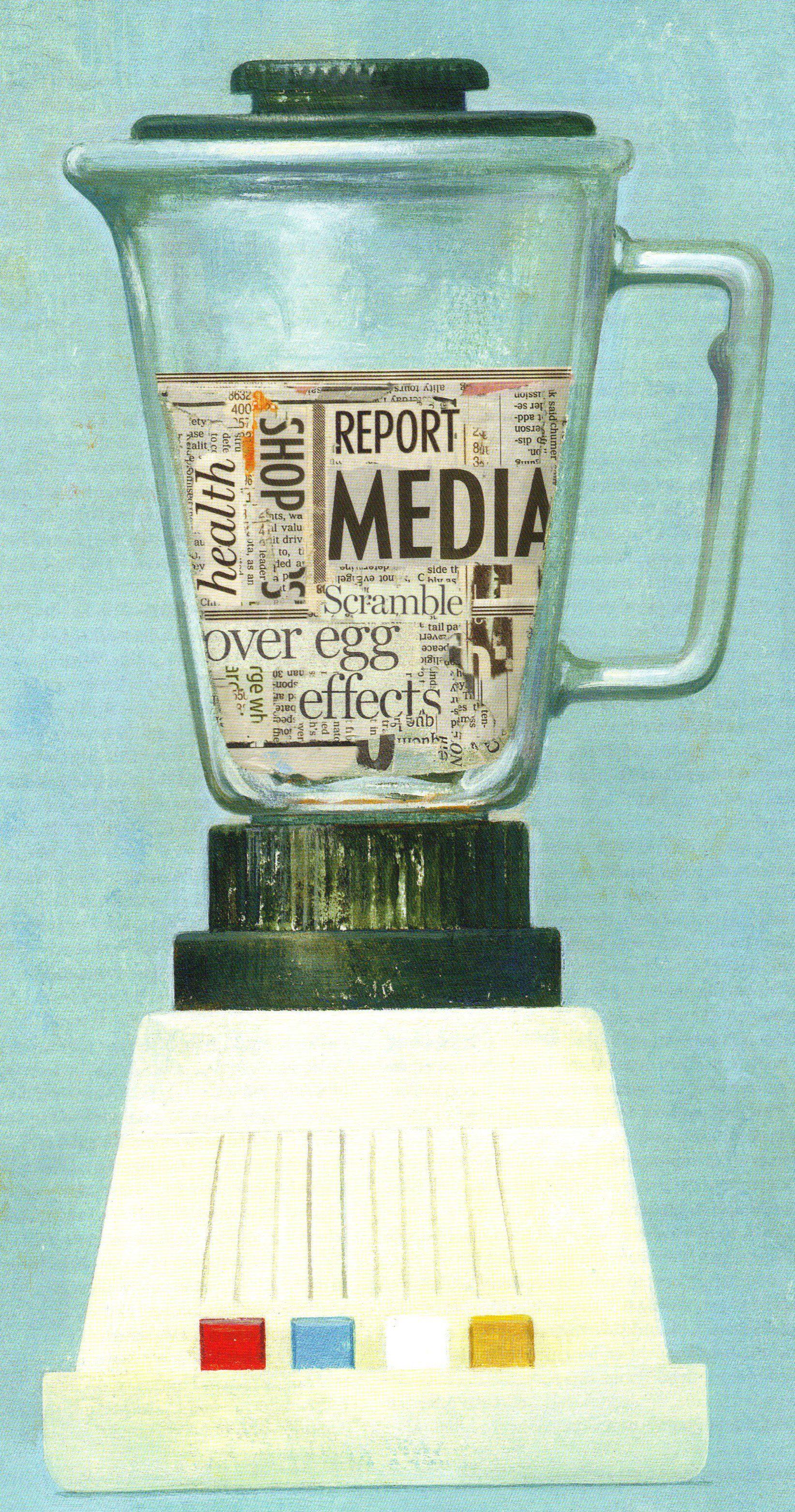 Newspaper in blender