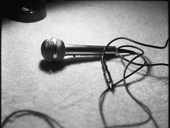Microphone on the floor