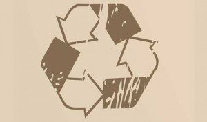 Recycle logo beige