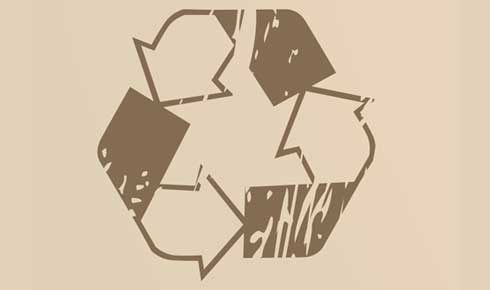 Recycle logo beige