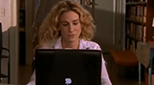 Carrie Bradshaw at laptop
