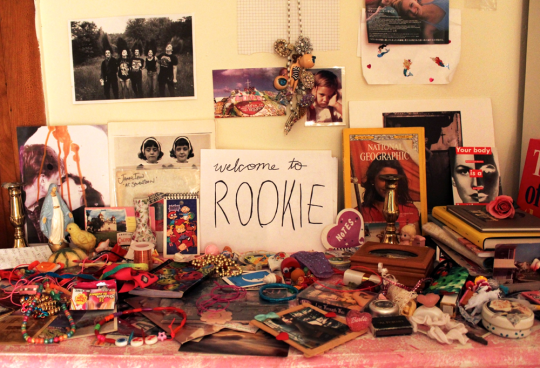 """Welcome to Rookie"" sign surrounded by knickknacks"