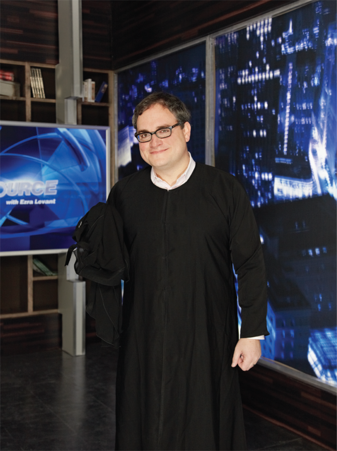 Last July, Ezra Levant taunted critics when he donned a niqab on his prime time TV show The Source. His stunts may be tongue-in-cheek, but he's dead serious about his right to poke fun at liberal pet causes