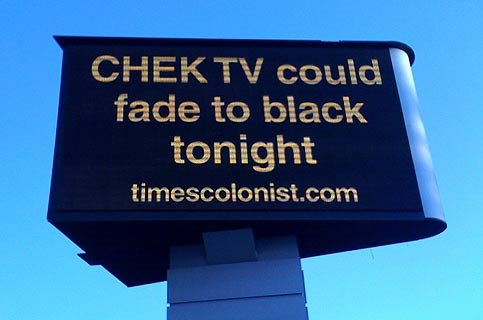 CHEK TV could fade to black tonight, timescolonist.com sign