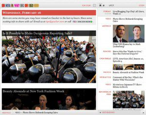 """Gawker webpage """"Is it possible to make dangerous reporting safe?"""""""