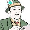 Illustration of journalist