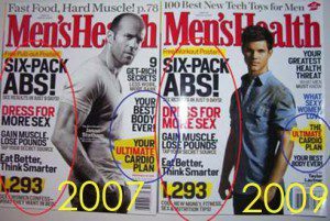 Men's Health 2009 cover almost identical to Men's Health 2007 cover