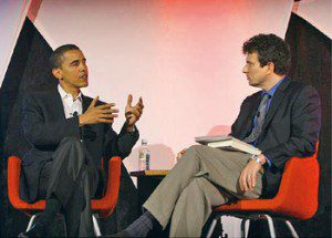 David Remnick and Barack Obama