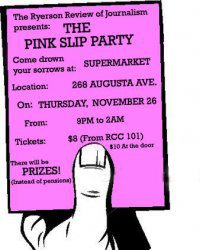 Poster for The Pink Slip Party