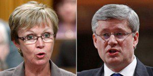 Nycole Turmel and Steven Harper