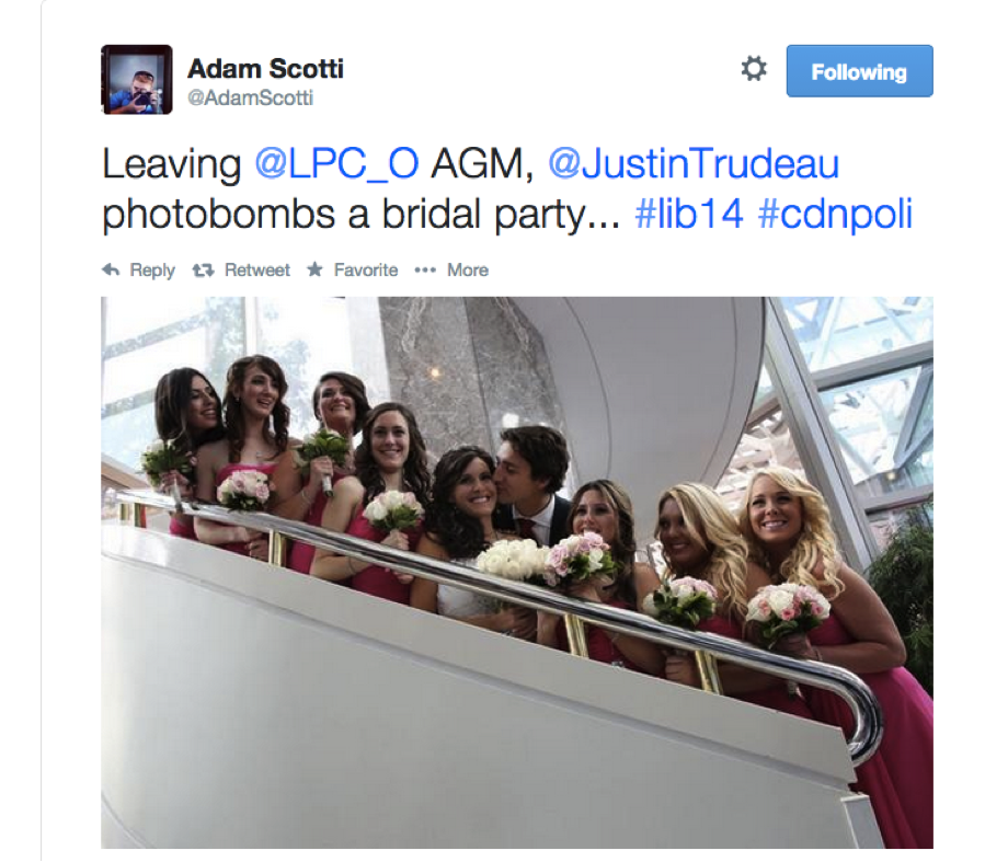 Adam Scotti Justin Trudeau tweet