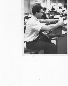 Man at typewriter