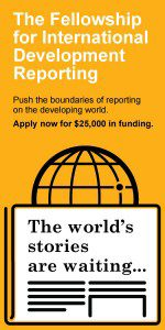 The Fellowship for International Development Reporting ad