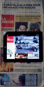 La Presse Newspaper and website on iPad