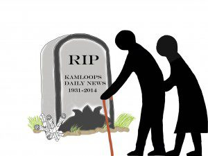 RIP Kamloops Daily News illustration