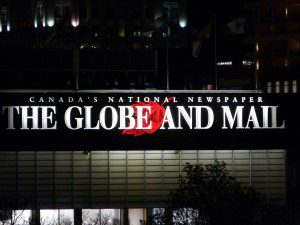 The Globe and Mail sign