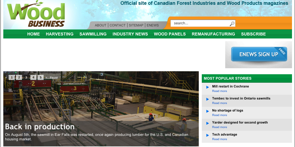 Wood Business website