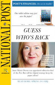 National Post article on Anne Marie Owens