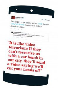 """Tweets on ISIS and """"video terrorism"""""""