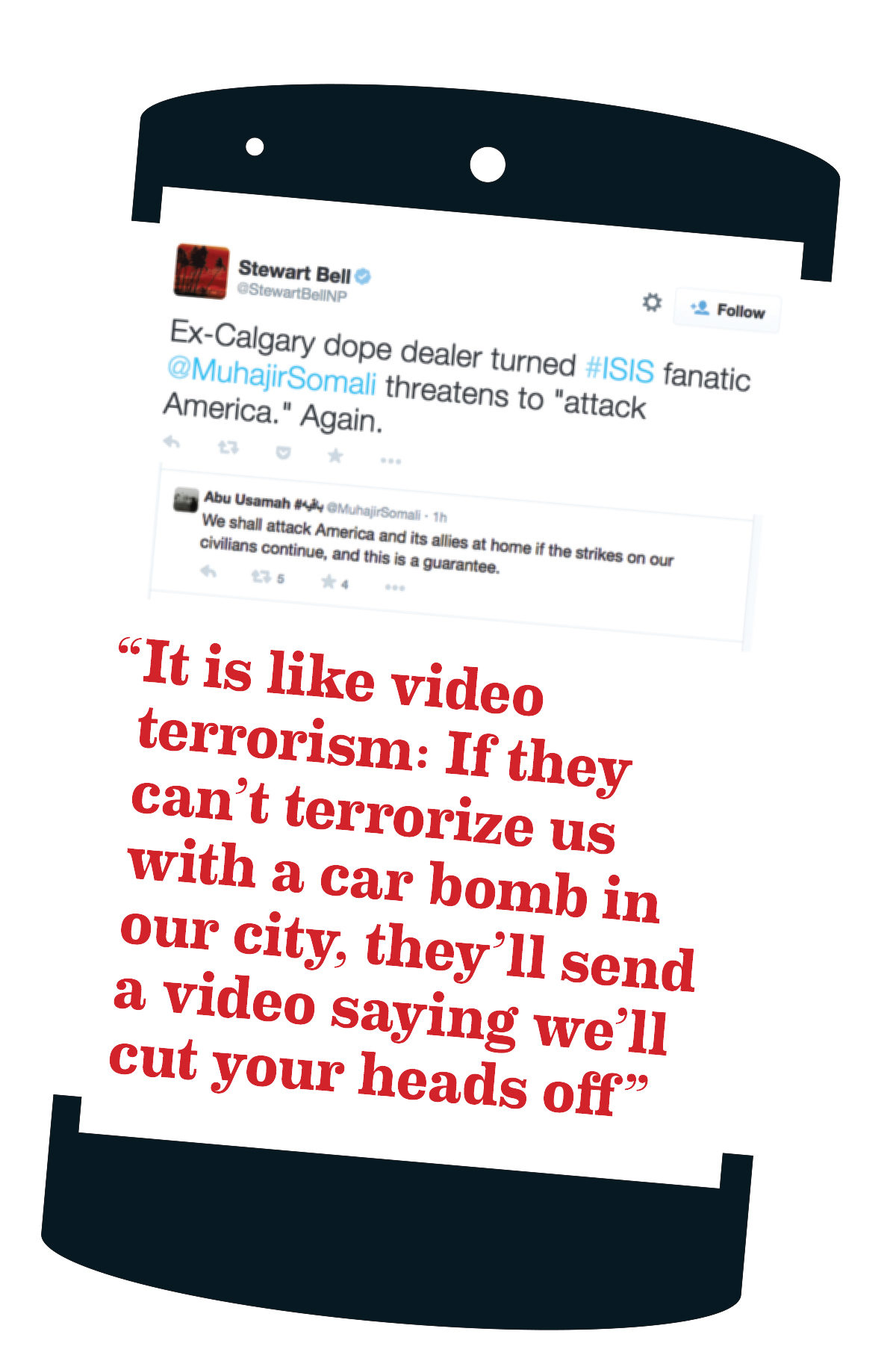 "Tweets on ISIS and ""video terrorism"""