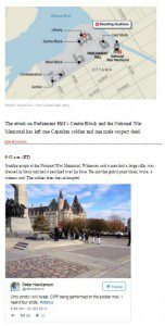 A screen grab of The Globe and Mail's coverage of the Ottawa shooting