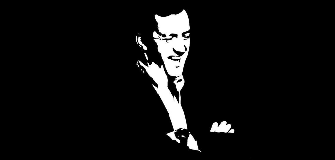 Black and white illustration of Andrew Coyne