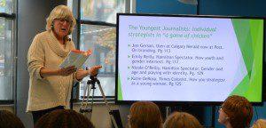 Vivian Smith speaks at Ryerson University.