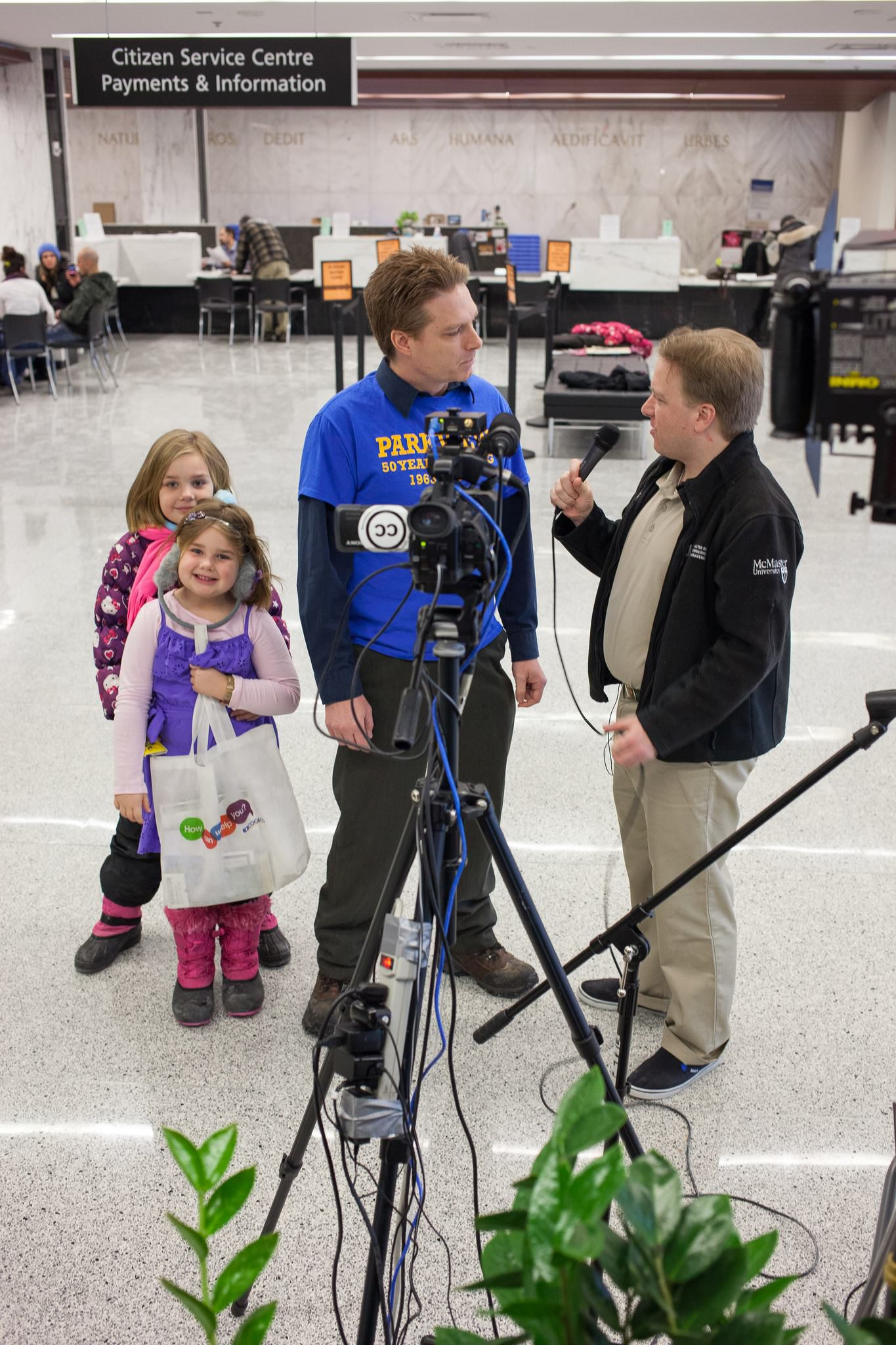 Coleman interviews a School Board Trustee