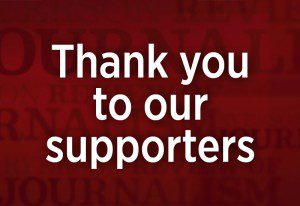 Thank you to our supporters RRJ graphic