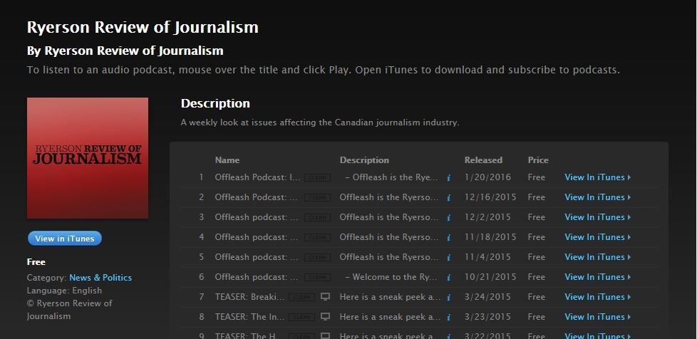 RRJ podcasts