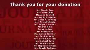 RRJ donation thank you list